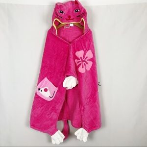 Kidorable Hooded Cat Towel Pink Ages 3-6